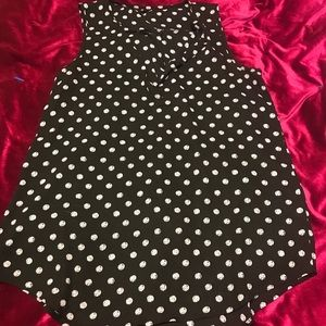 Black and silver polka dot tank